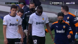 Valencia's Entire Team Walked Off The Field During La Liga Game After Defender Diakhaby Accused Opponent Of Racism