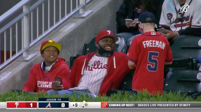 Phillies Braves Freddie Freeman Home Run