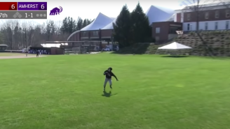 This Wesleyan Outfielder Made The Worst Play Of The College Baseball Season After His Teammates Left Him Out To Dry