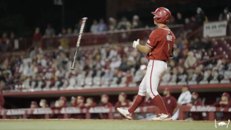 South Carolina Fans Called Robert Moore An 'Oompa Loompa,' So He Hit An Absolute Moonshot And Bat Flipped In Their Faces