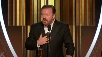 Ricky Gervais Claims He Wasn't Invited To The Oscars So He Trolls Them With His Infamous Golden Globes Monologue