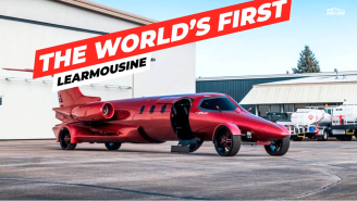 Someone Turned A Learjet Into A Street-Legal Limousine (A Learmousine?) And It's Up For Sale!