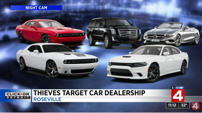 Watch Thieves Drive Off With 250000 Worth Of Cars From Dealership