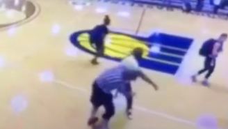 Wild Brawl At An AAU Game Ends With A Ref Getting Hit With A Body Slam Straight Out Of WWE