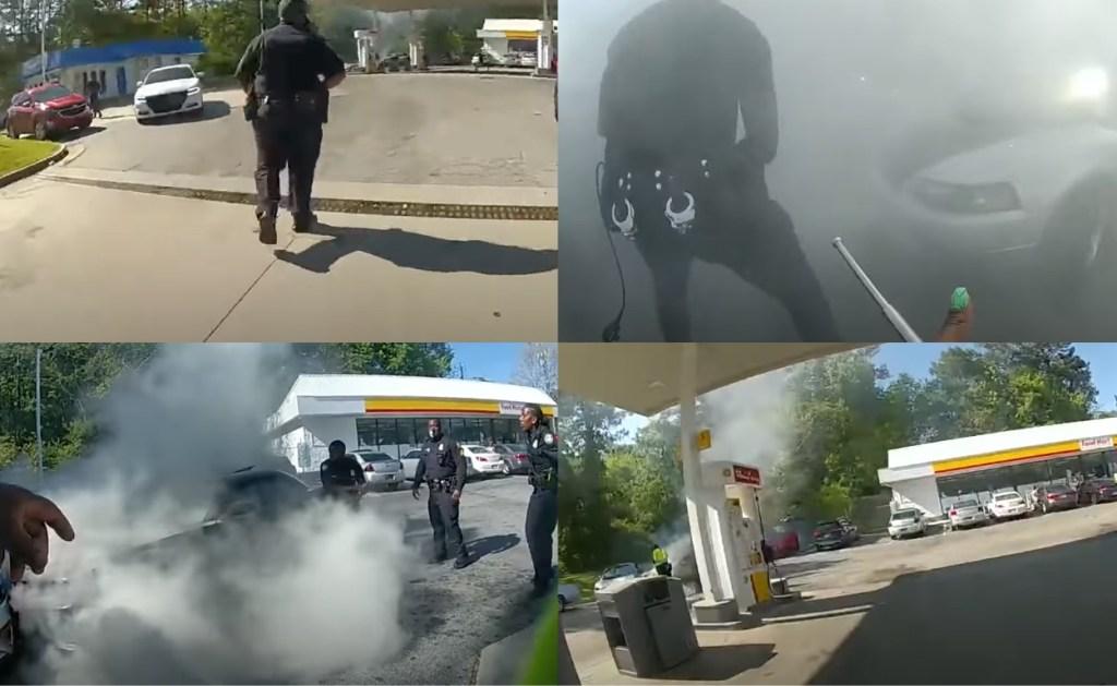 Atlanta police body cam footage saving man's life from burning car