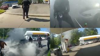 Intense Body Cam Footage Shows Hero ATL Police Saving Man Having A Seizure Inside Of A Burning Car