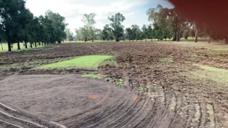The Vandal That Destroyed This Small Town Golf Course In Australia Should Be Sentenced To Personally Repair All The Damage