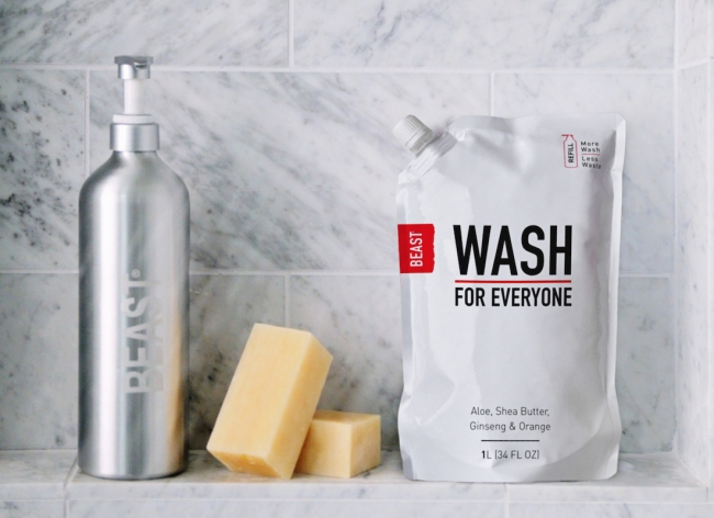 Beast Brands' Eco-Friendly Reusable Grooming Bottles