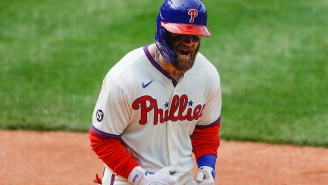 Bryce Harper Looks Unscathed After Taking A 97-MPH Heater To The Face Against The Cardinals