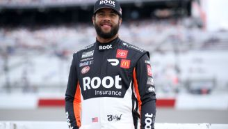 Bubba Wallace's In The Moment Reaction To Joey Logano's Car Flipping Over His At Talladega Is Unbelievable