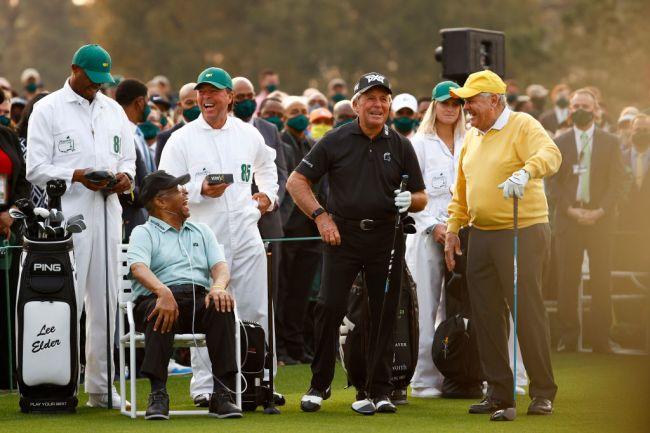 gary player son caddie promotes golf balls lee elder