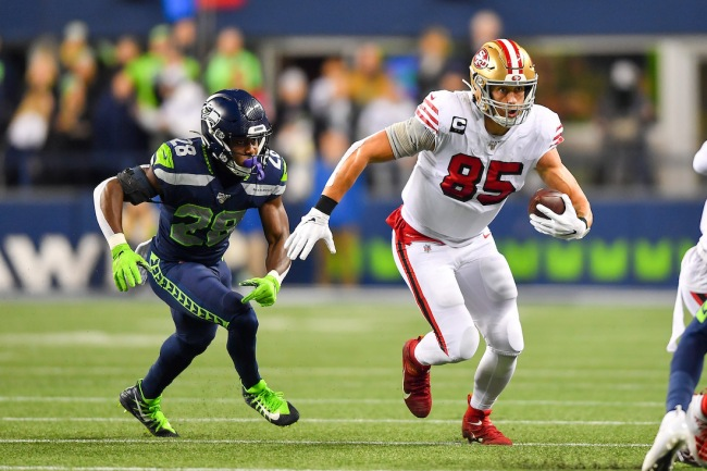 All-Pro TE George Kittle tells story about his draft day when the 49ers swooped in to pick him minutes before the Seahawks could