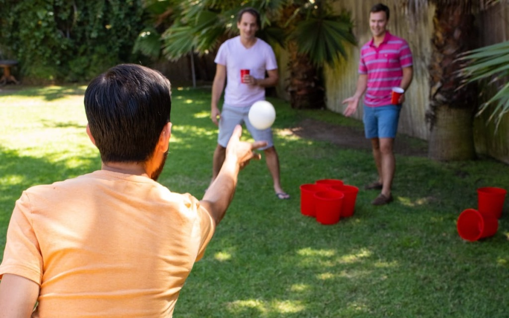 giant yard pong cornhole beer pong games combined