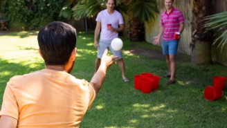 Giant Yard Pong Combines Cornhole With Beer Pong And It's Your New Favorite Drinking Game