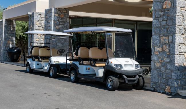 golf in south korea self-driving carts
