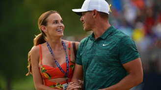 Brooks Koepka's Engagement Ring To Jena Sims Looks Like A Bedazzled TI-83 Calculator And Is A Threat To Happy Couples Everywhere