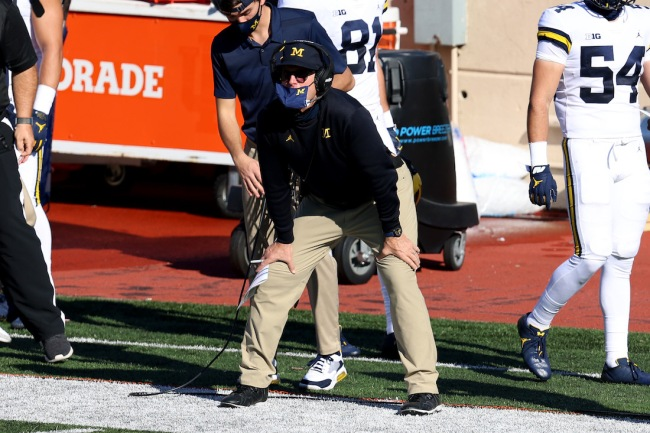 Michigan Wolverines head football coach Jim Harbaugh was paid a wild $250K to appear in a Downy commercial about his khakis