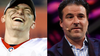 Johnny Manziel Sent Darren Rovell A Signed Helmet With A Two-Word Message That Perfectly Sums Up How He Feels About Him