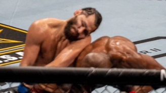 Jorge Masvidal Getting Knocked Out Standing By Kamaru Usman At UFC 261 Gets The Meme Treatment