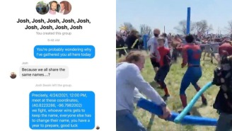 The 'Josh Fight' Meme Actually Happened IRL, Horde Of Joshes Met In A Cornfield To Beat Each Other Up With Pool Noodles