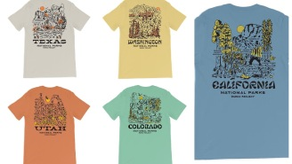 Rep America's Iconic National Parks With These Vintage-Style Texas, Utah, Cali, And Colorado Tees