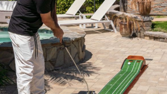 Be A Beast On The Putting Green With The Mobile Practice Mat That'll Have You Winning All The Skins