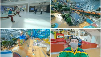 This Single-Shot Drone Video Following Rollerbladers Inside The Mall Of America Is Peak Cinematography