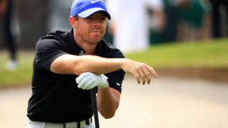 Watch Rory McIlroy Hit His Father With An Approach Shot At The Masters