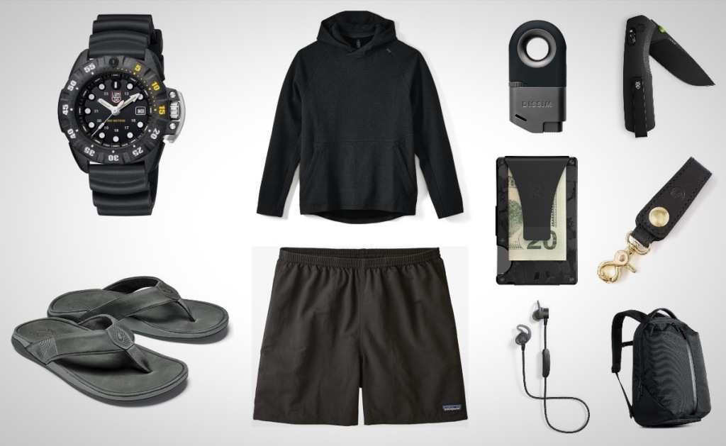 spring everyday carry essentials in black