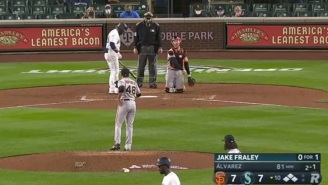 Fan At Mariners-Giants Opening Night Game Drove Viewers Crazy By Constantly Yelling 'Woo' During Every Pitch