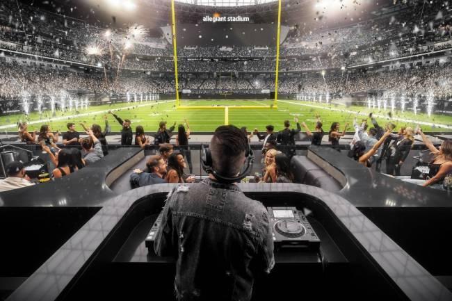 Las Vegas Raiders Allegiant Nightclub