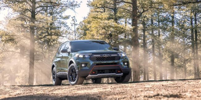 The 2021 Ford Explorer Timberline is the off-road version of the SUV.
