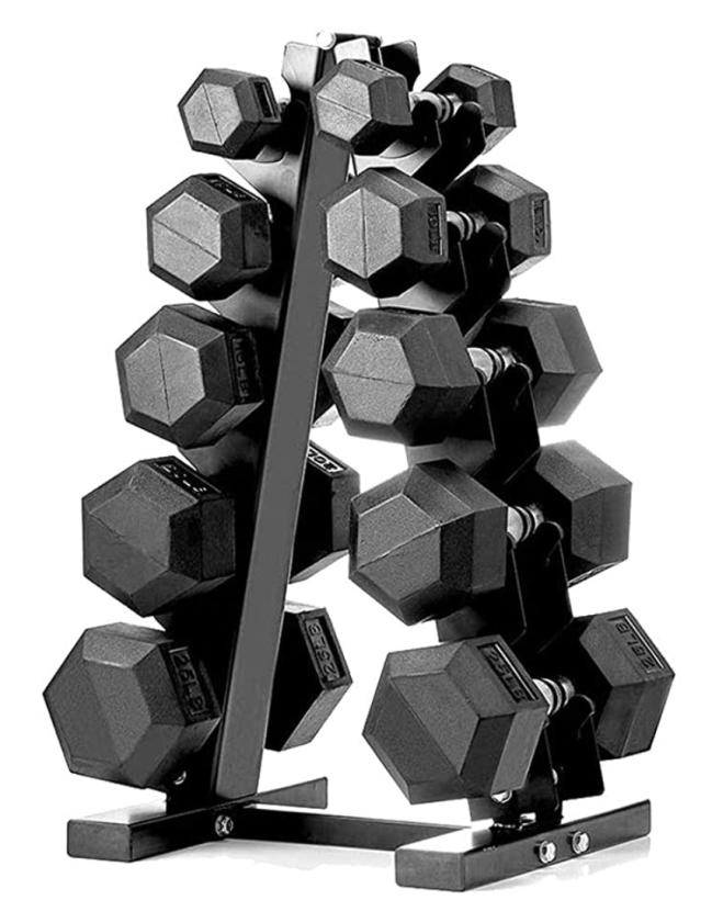 Dumbbell Set with A-Frame Rack