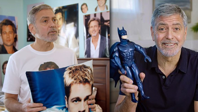 George Clooney Is The Worst Roommate Brad Pitt Fan In Charity Video