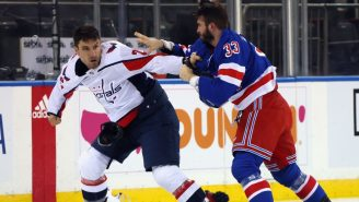 Violent Chaos Ensues Between Capitals And Rangers, Fans Rip Tom Wilson For Exiting The Game Early With An Injury