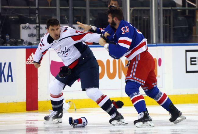 Rangers Capitals Fight Brawl Tom Wilson