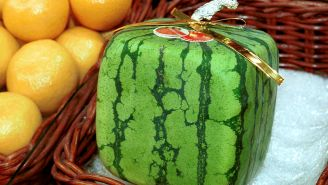 Square Watermelons Are A Very Real Thing In Japan And They're Incredibly Expensive, Which Is Mind-Blowing