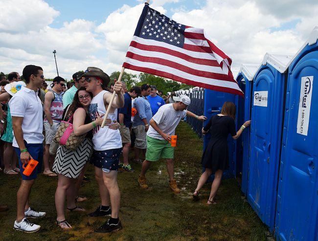 Preakness Stakes Infield Urinals