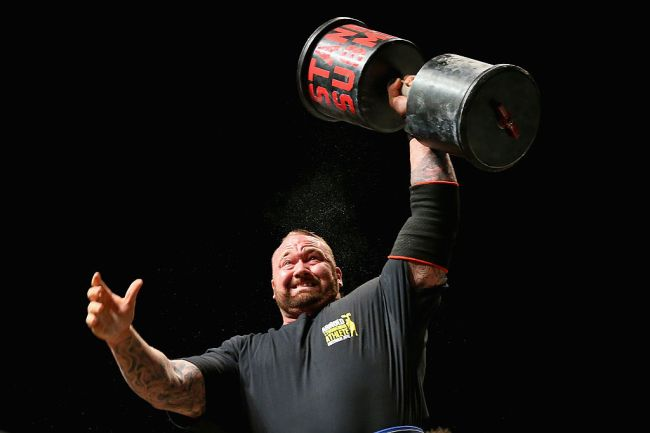 """Game of Thrones actor and stongman Hafthor """"Thor"""" Bjornsson AKA The Mountain lost over 100 pounds and is shredded."""