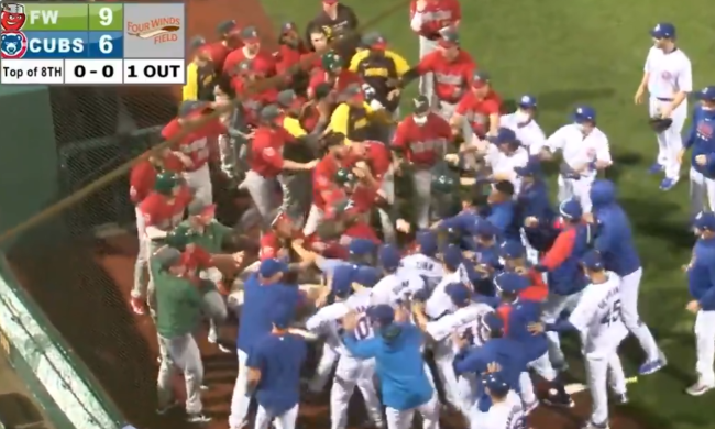 Minor League Teams For The Cubs And Padres Got Into A Major Brawl