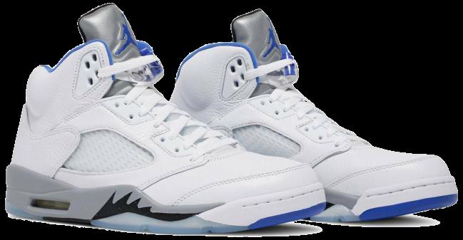 Nike Air Jordan 5 Retro White Stealth