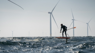 Stand-Up Paddle Board Champion Casually Hydrofoils 128km From Denmark To Sweden Like It's A Normal Thing To Do