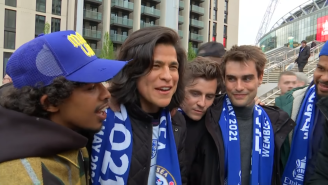 Cast Of 'Ted Lasso' Stays In Character, Completely Fools Interviewer At FA Cup Final