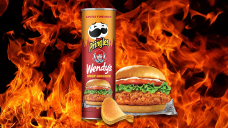 Are The New Wendy's Spicy Chicken Sandwich Pringles Worth Tracking Down? We Tried Them To Find Out