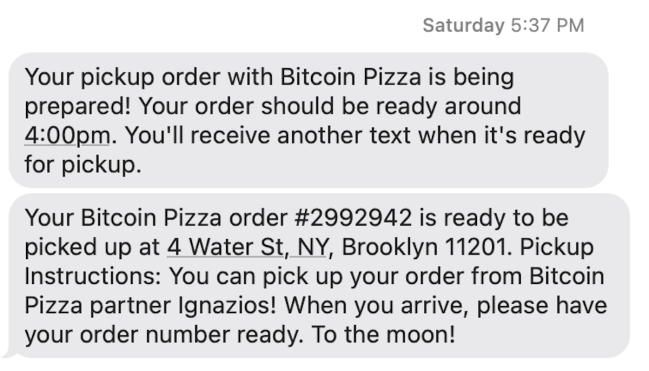 Bitcoin Pizza review