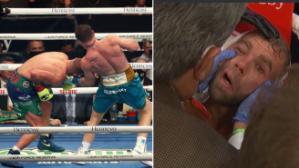 Canelo Alvarez Reportedly Busted Billy Joe Saunders' Eye Socket With An Uppercut And Saunders' Eye Was Looking Pretty Nasty Afterwards