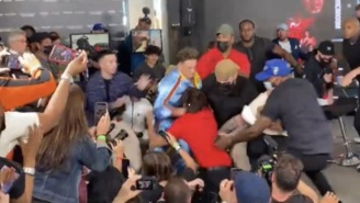 Bryce Hall Gets Manhandled By Austin McBroom During Heated Altercation At Press Conference