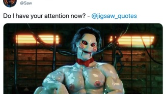 Official 'Saw' Twitter Account Shares Horrifying Photo Of Buff Mascot, Internet Repulsed
