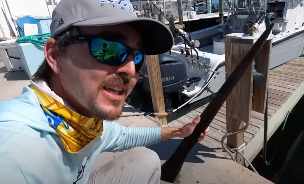 Captain Nick Stanczyk finds Lancetfish inside Swordfish belly