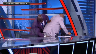 Charles Barkley Suffers Leg Cramp On 'Inside The NBA,' Shaq Gets Up And Punches It Out